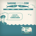 Commander Sardines - Sardine Lovers - Online 1 - Art Director: Ryan Barlow